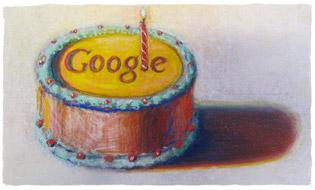 Feliz 12º Aniversário, Google! De Wayne Thiebaud. Imagem utilizada com a autorização de VAGA NY