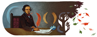Google Logo: Celebrations for the anniversary of Almeida Garrett - Portuguese poet, playwright, novelist and politician