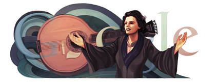 Google Logo: Amália Rodrigues' Birthday - Portuguese singer and actress