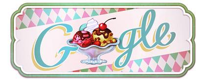 ana rito: doodle do google do 119º aniversário do primeiro gelado sundae