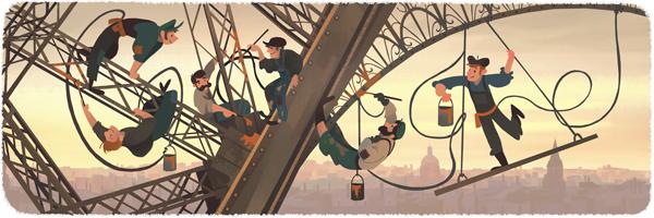 126º aniversário da abertura ao público da Torre Eiffel