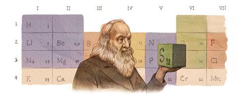182º Aniversário de Dmitrij Mendelejew